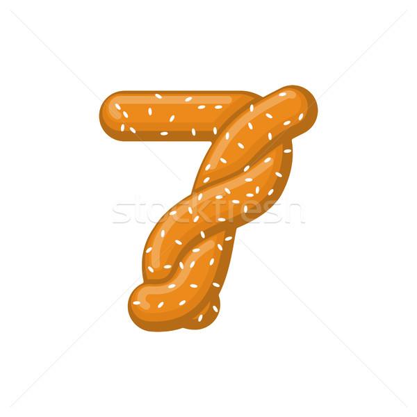 Numero pretzel carattere sette simbolo Foto d'archivio © MaryValery