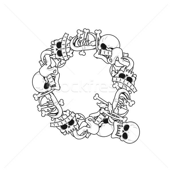 Letter Q skeleton Bones Font. Anatomy of an alphabet symbol. dea Stock photo © MaryValery