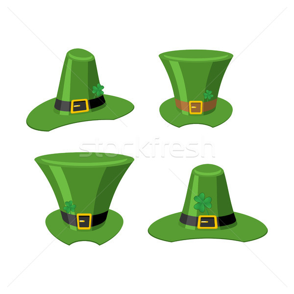 Stock photo: Leprechaun Green hat isolated. St. Patrick's Day national holida