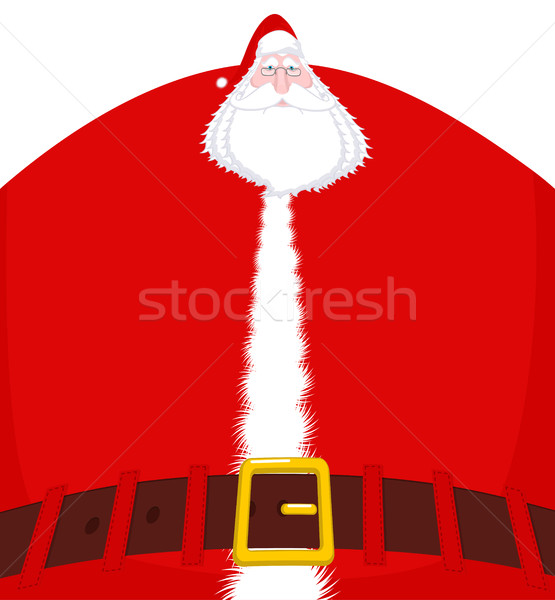 Santa Claus large and belt. Huge Christmas grandfather. Enormous Stock photo © MaryValery