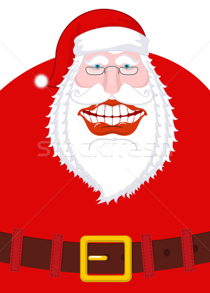 Joyful Santa Claus Laughs. Broad smile and belt. large mouth. Me Stock photo © MaryValery