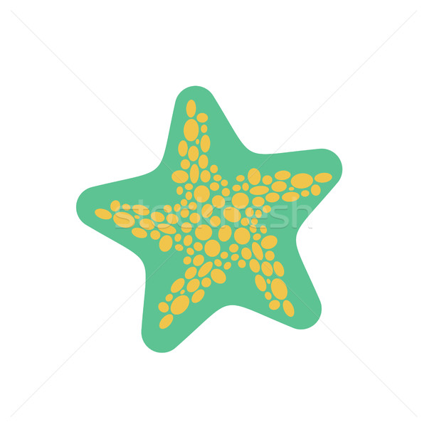 Starfish isolated. Sea animals on white background. aquatic moll Stock photo © MaryValery