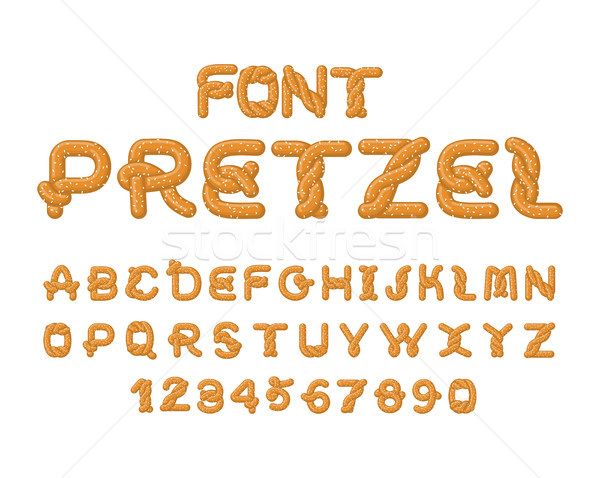 Bretzel police alimentaire alphabet traditionnel repas Photo stock © MaryValery