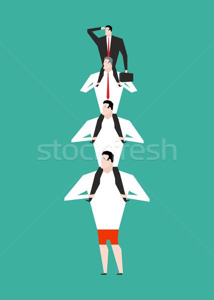 Kantoor hiërarchie business piramide bedrijf structuur Stockfoto © MaryValery