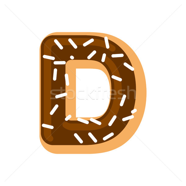 Letter D donut font. Doughnut alphabet. Sweet lettering. candy A Stock photo © MaryValery