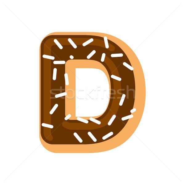 Letter d donut doopvont donut alfabet zoete Stockfoto © MaryValery