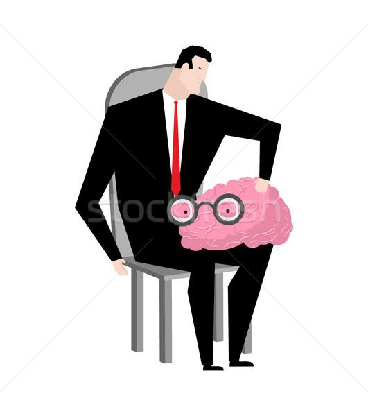 Stok fotoğraf: Işadamı · beyin · patron · insan · iş · mutlu
