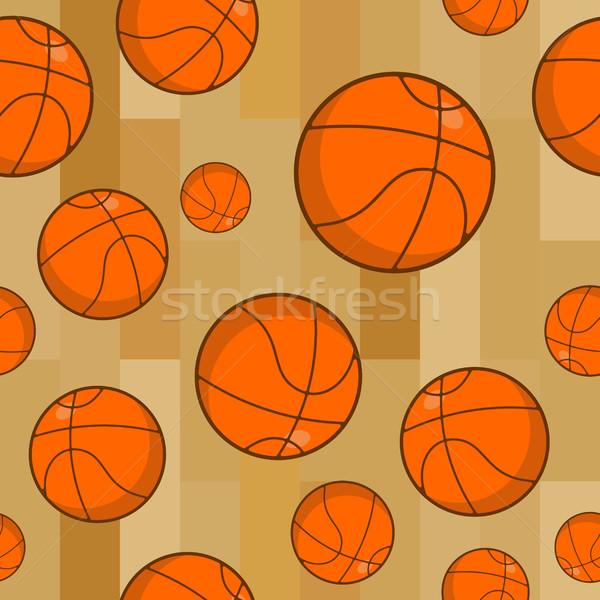 Kosárlabda végtelen minta sportok dísz narancs gömb alakú Stock fotó © MaryValery