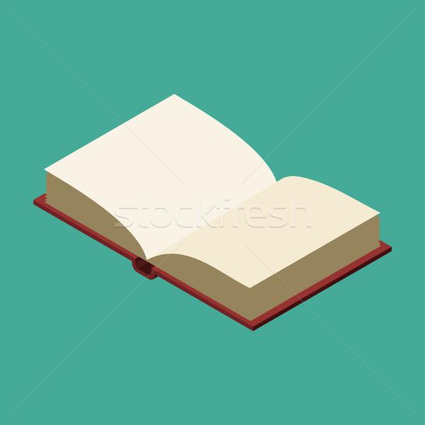 Nyitott könyv izolált kinyitott öreg hangerő fehér Stock fotó © MaryValery