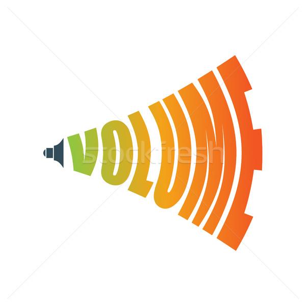Tom muzyki podpisania audio ikona symbol Zdjęcia stock © MaryValery