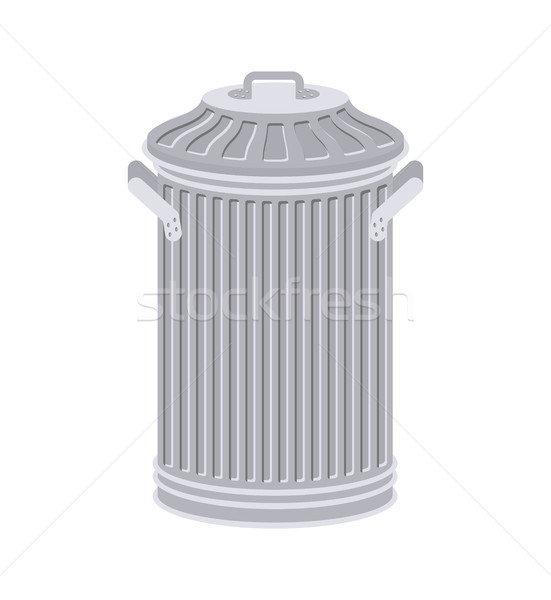 Trash can isolated. Wheelie bin on white background. Dumpster ir Stock photo © MaryValery
