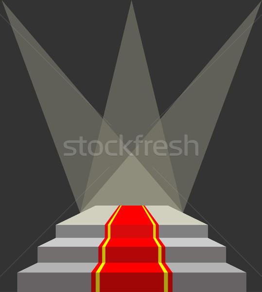 Alfombra roja podio iluminación no transparencia efectos Foto stock © MaryValery