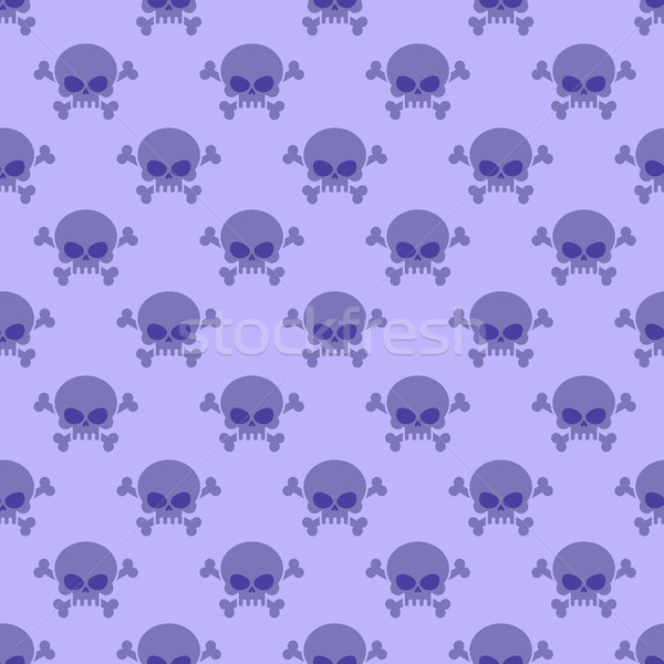 Skull with crossbones background. Seamless purple pattern from h Stock photo © MaryValery