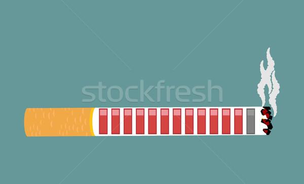 Sigaretta salute risorsa retro videogioco fumare Foto d'archivio © MaryValery