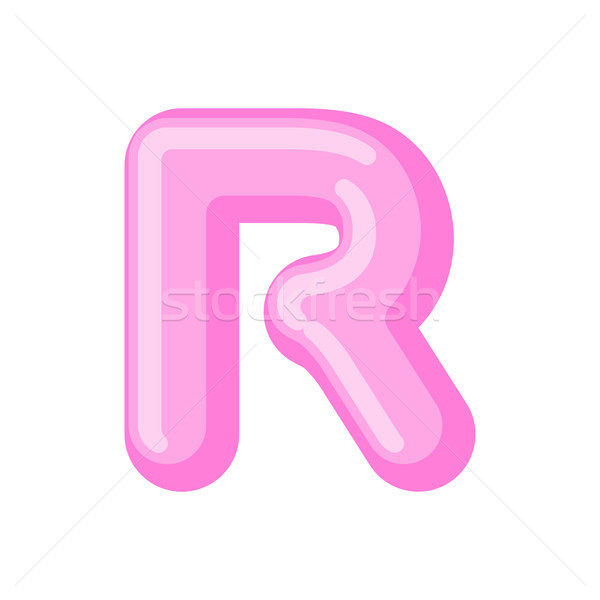 Letter R candy font. Caramel alphabet. lollipop lettering. Sweet Stock photo © MaryValery