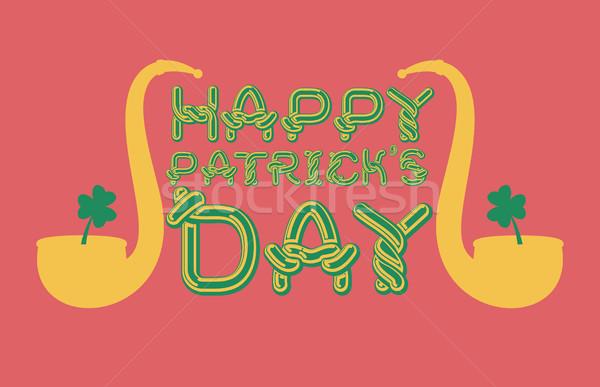 幸せ 日 エンブレム ケルト フォント 文字 ストックフォト © MaryValery