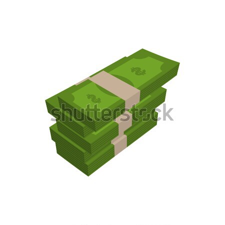 stack of money isolated. pile of cash on white background Stock photo © MaryValery