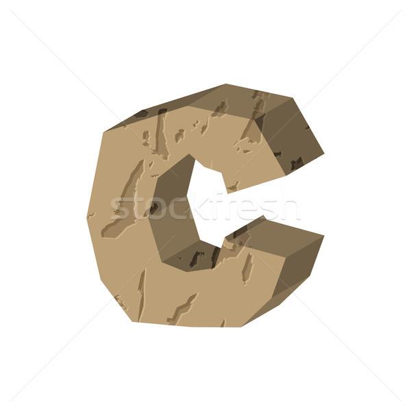 C betű kő betűtípus kő ábécé szimbólum Stock fotó © MaryValery