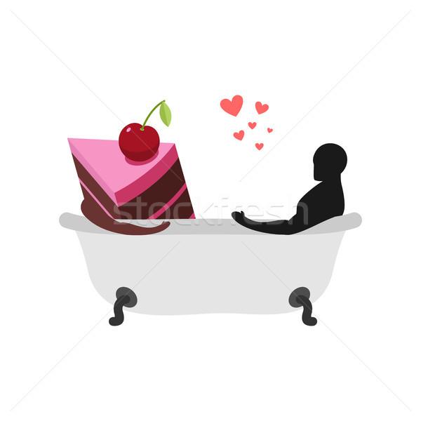 Bolos homem peça bolo banho Foto stock © MaryValery