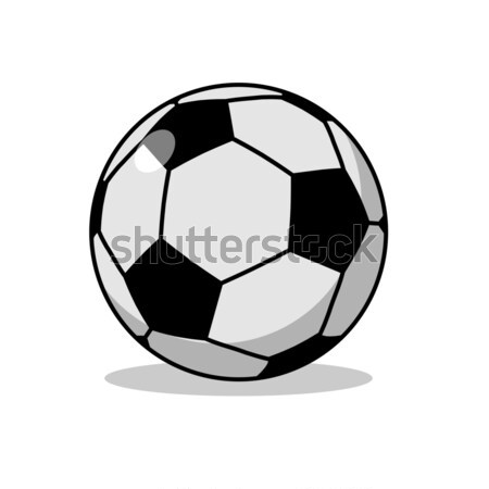 Soccer ball isolated. Sports accessories for football. Scope for Stock photo © MaryValery