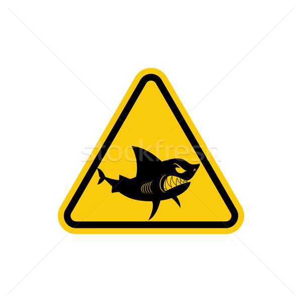 Teken aandacht haaien Geel oceaan Stockfoto © MaryValery