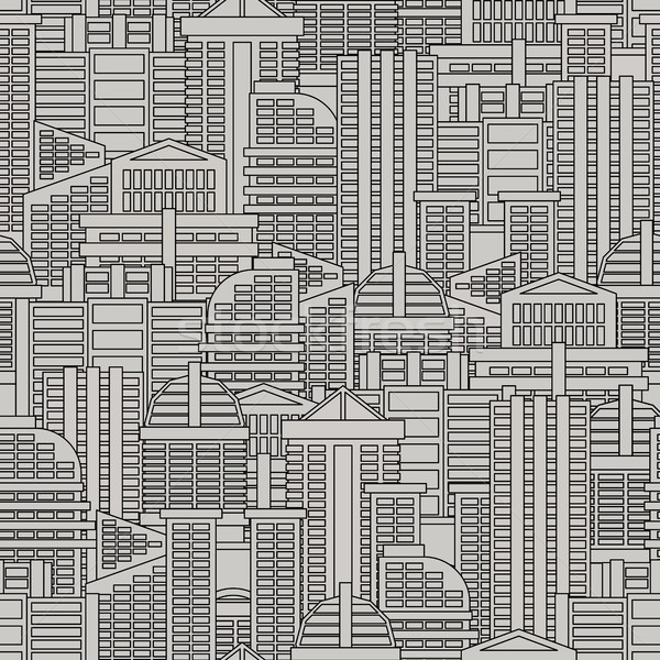 City seamless pattern. Vector background of buildings and skyscr Stock photo © MaryValery