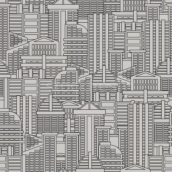 Miasta wektora budynków wieżowce tekstury Zdjęcia stock © MaryValery
