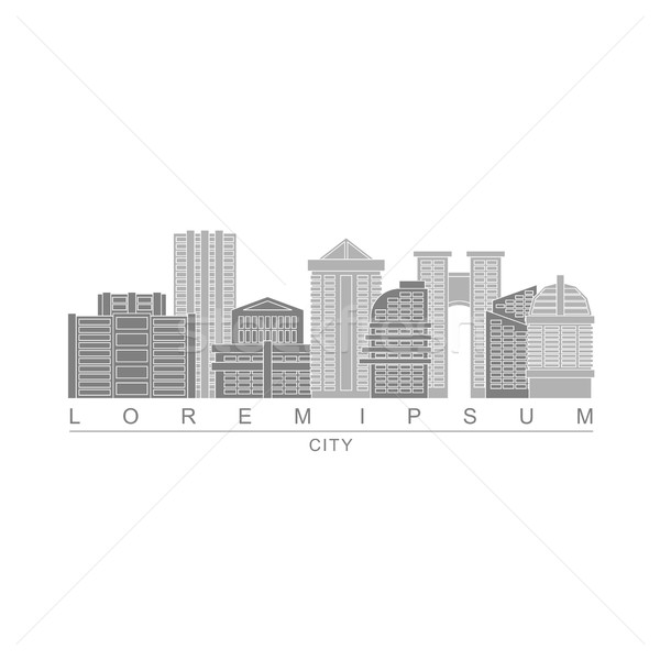 Logo skyscrapers of metropolis. City with high buildings. Logo f Stock photo © MaryValery