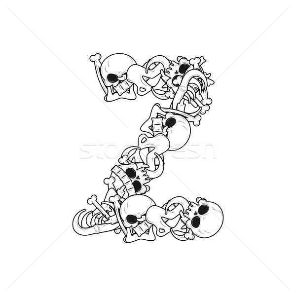 Letter Z skeleton Bones Font. Anatomy of an alphabet symbol. dea Stock photo © MaryValery