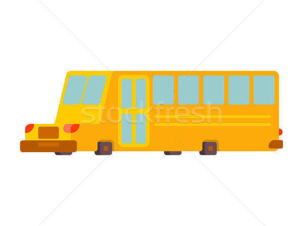 School bus isolated. Yellow bus for transportation of children Stock photo © MaryValery