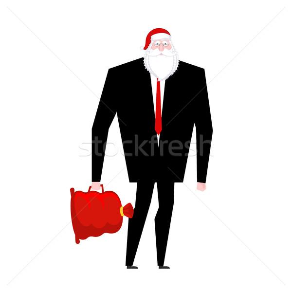 Stock fotó: Főnök · mikulás · hamis · szakáll · piros · sapka