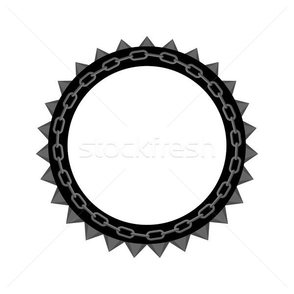 Chain round frame isolated. Collar for aggressive dogs Stock photo © MaryValery