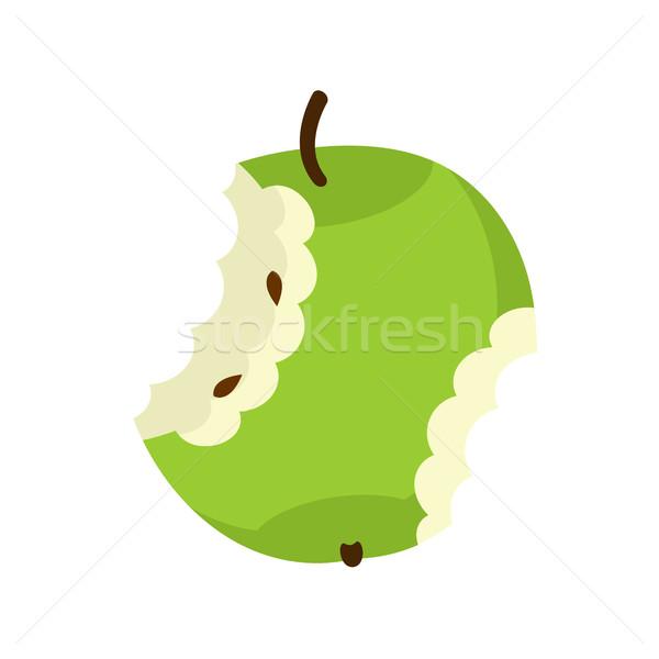 зеленый яблоко ядро изолированный фрукты мусор Сток-фото © MaryValery