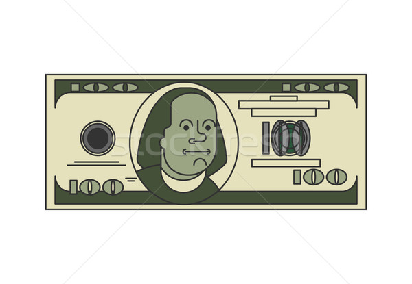 100 Dollar linear Linear style. USA money. American currency Stock photo © MaryValery