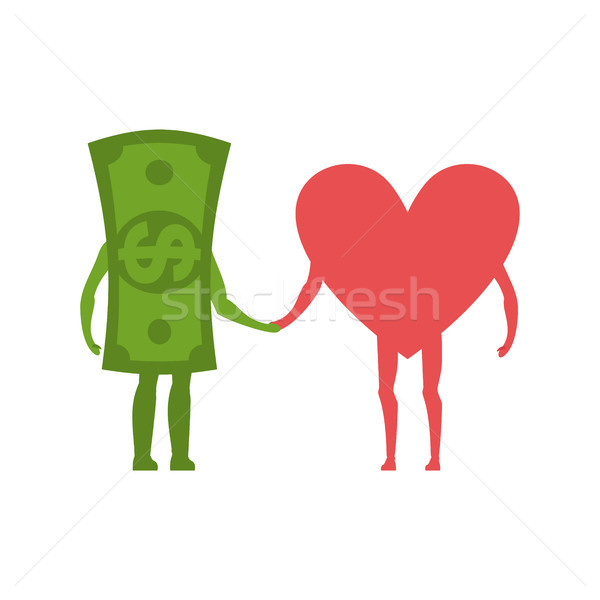 Love and money Hold on to hands. Selling love. Dollar and heart  Stock photo © MaryValery