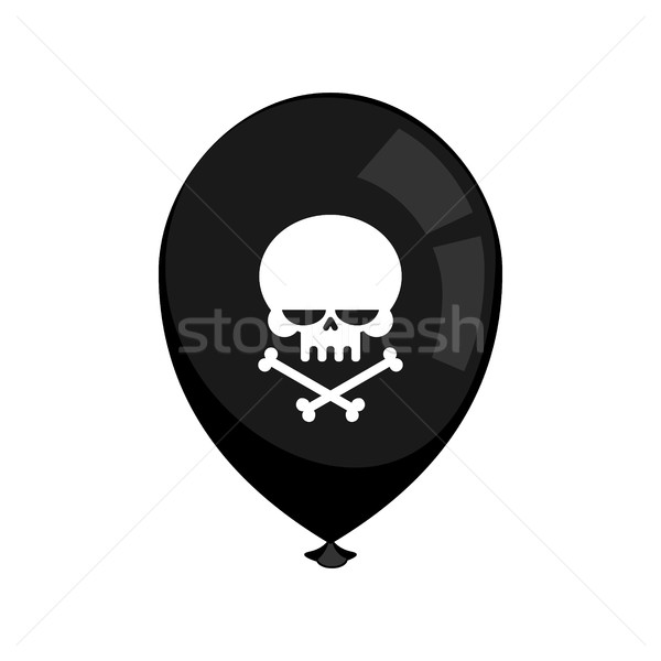 Black balloon mourning isolated. Skull and crossbones. Bad holid Stock photo © MaryValery