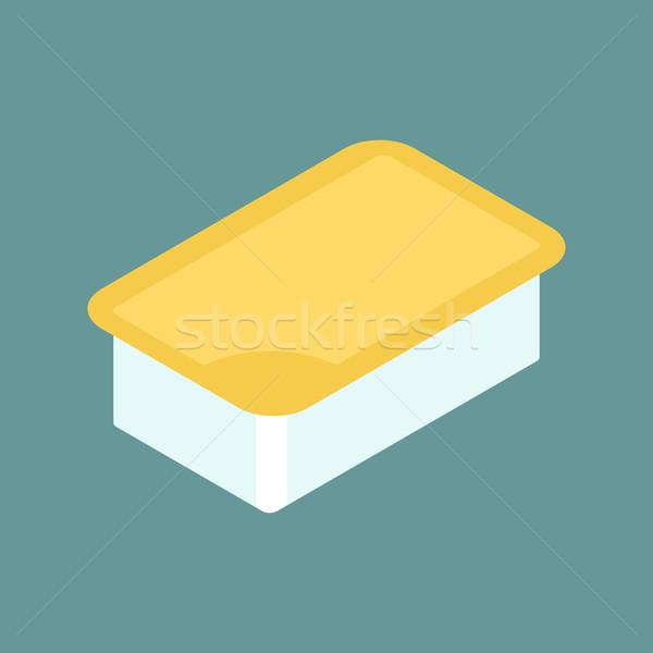 Mustár mártás csomag izolált mártás gyorsételek Stock fotó © MaryValery