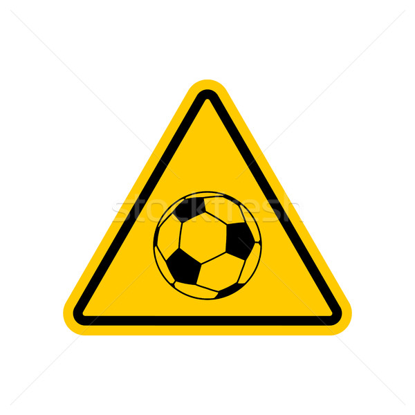 Attention football danger jaune panneau routier prudence Photo stock © MaryValery