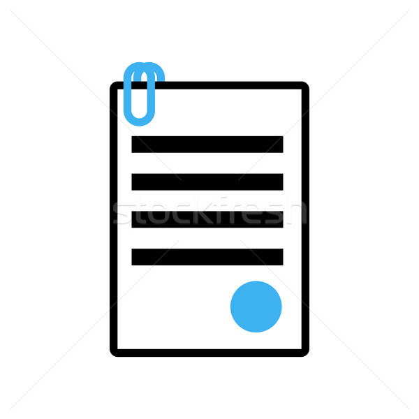 Documents icon sign. Office symbol. paper Sheet contract with st Stock photo © MaryValery