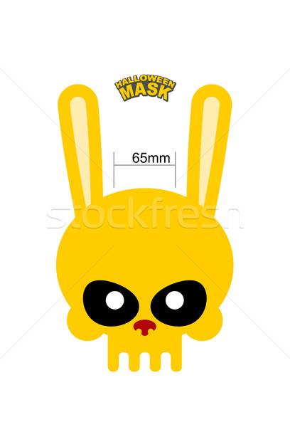 череп заяц кролик маске Хэллоуин Пасху Сток-фото © MaryValery