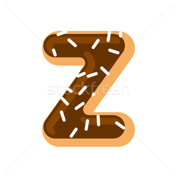 Stock photo: Letter Z donut font. Doughnut alphabet. Sweet lettering. candy A