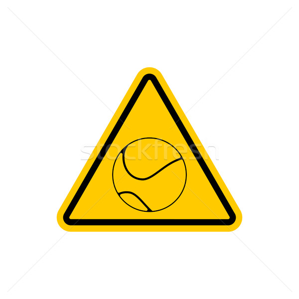 Attention tennis danger jaune panneau routier jeux Photo stock © MaryValery