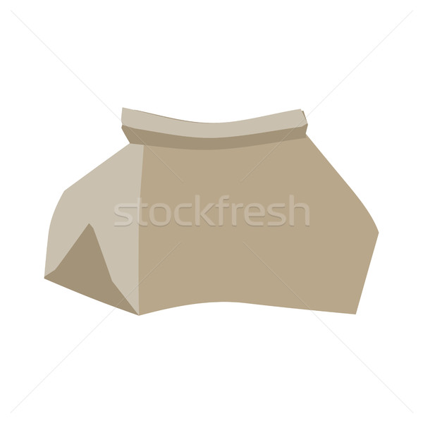 Paper bag crushed garbage isolated. package rubbish on white bac Stock photo © MaryValery
