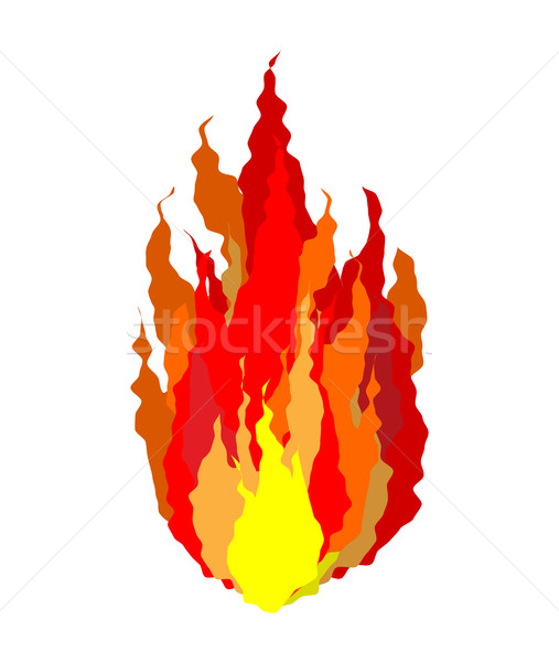 Fire isolated. Flames sign on white background Stock photo © MaryValery