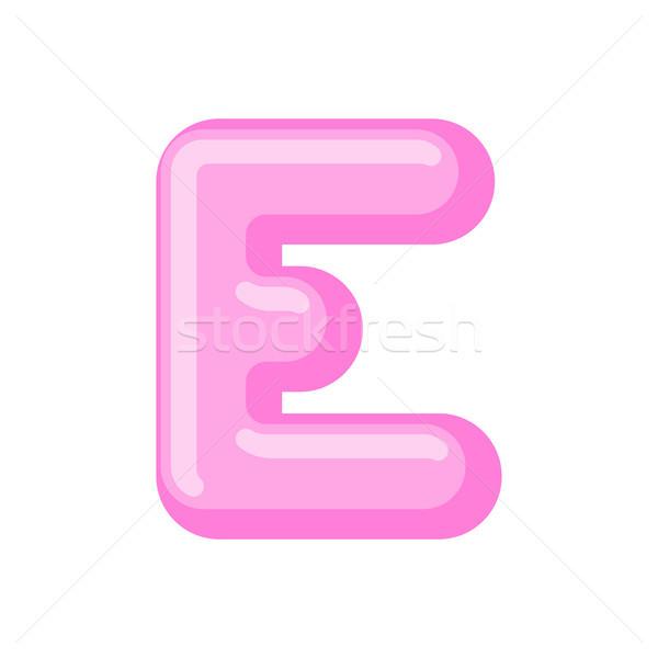 E betű cukorka betűtípus karamell ábécé nyalóka Stock fotó © MaryValery