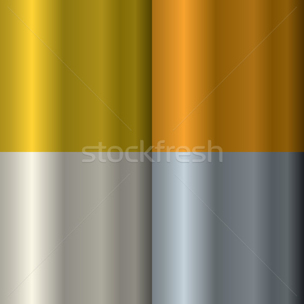 Set of textures on precious metals: gold and silver. Bronze and  Stock photo © MaryValery
