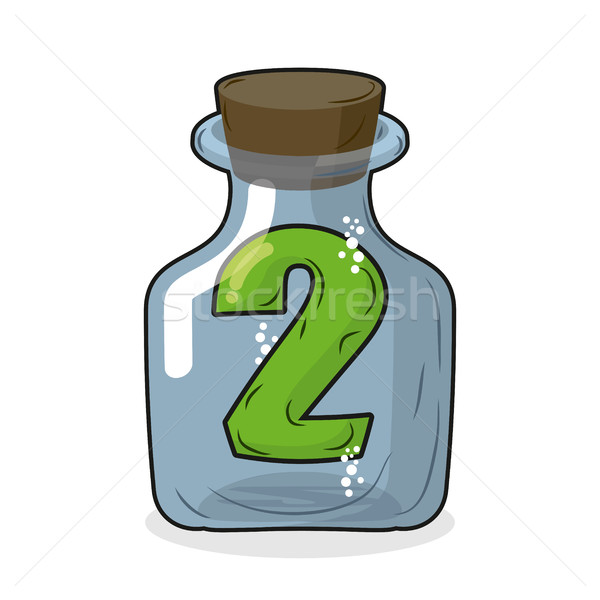 Figure two in laboratory bottle. Figure 2 in the magic bottle wi Stock photo © MaryValery