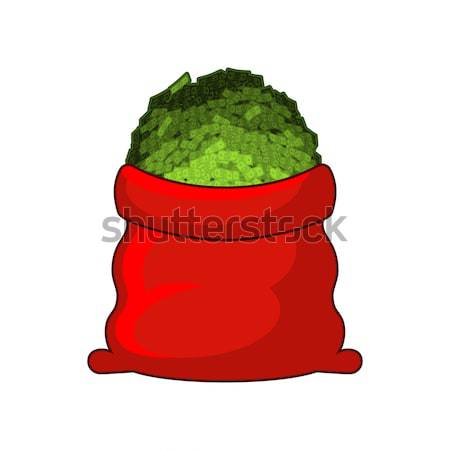 Full Santa Sack of cannabis. Large red bag of marijuana. Smoking Stock photo © MaryValery