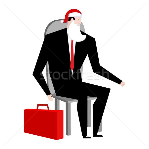 Főnök mikulás hamis szakáll piros sapka Stock fotó © MaryValery