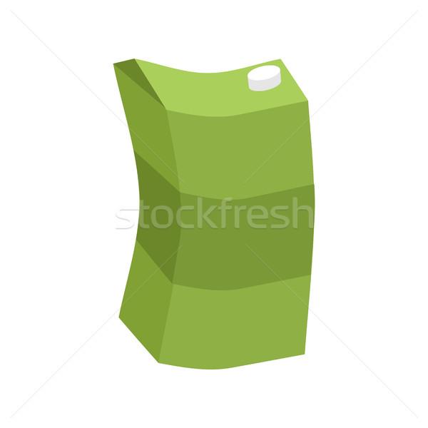 Empty juice box rubbish isolated. Garbage on white background Stock photo © MaryValery